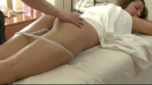 Gorgeous, blonde woman got a massage, but it turned into a casual sex session, during that time